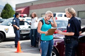 Giving police accident information